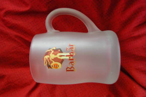 beer mug from Le Belge café