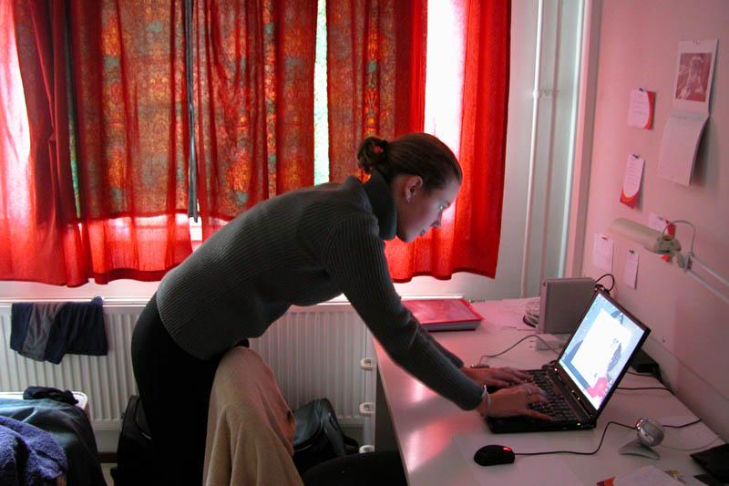 Amandine working